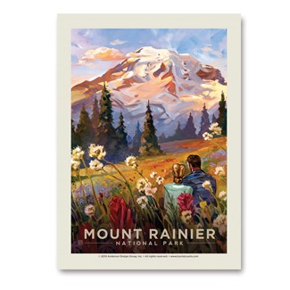 Mt. Rainier Moment in the Meadow Vert Sticker | Vertical Sticker