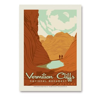 Vermilion Cliffs National Monument Vert Sticker | Vertical Sticker