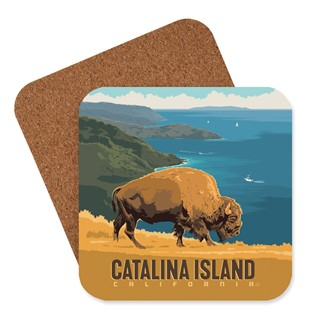 Catalina Bison Coaster | American made coaster