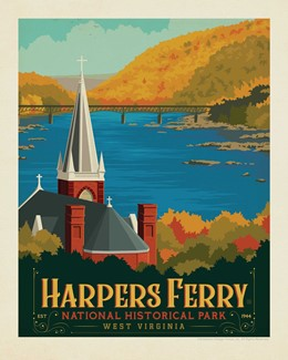 "WV Harpers Ferry 8"" x 10"" Print 