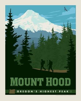 "Mount Hood, OR 8"" x10"" Print 