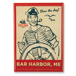 Seas the Day Bar Harbor Magnet | American Made Magnet