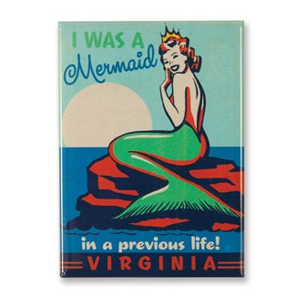 VA Mermaid Queen Magnet | American Made Magnet