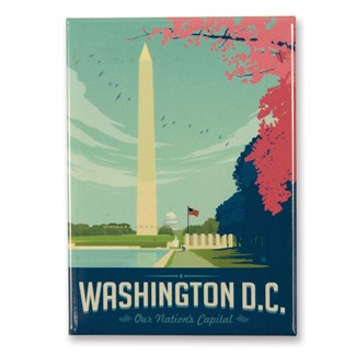 Washington, DC Cherry Blossoms Magnet | American Made Magnet