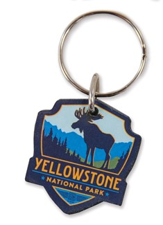 Yellowstone Moose Emblem Wooden Key Ring | American Made