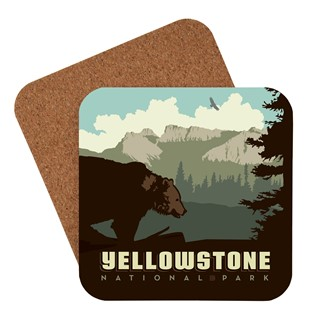 Yellowstone Brown Bear Coaster | American made coaster