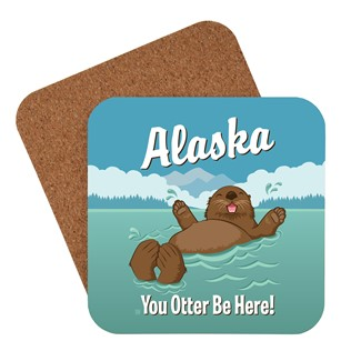 AK Otter Be Here Coaster | American made coaster