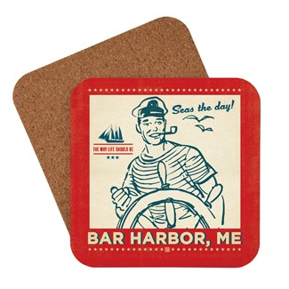 Seas the Day Bar Harbor Coaster | American made coaster