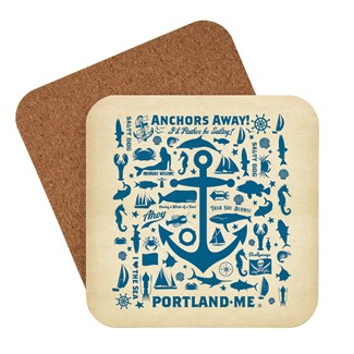 Anchor Pattern Portland, ME | American made coaster