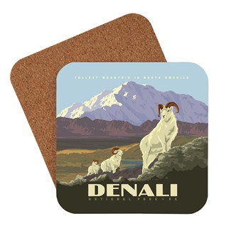 Denali Dall Sheep Coaster | American Made Coaster