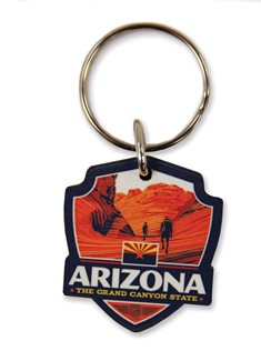 AZ Emblem Wooden Key Ring | American Made