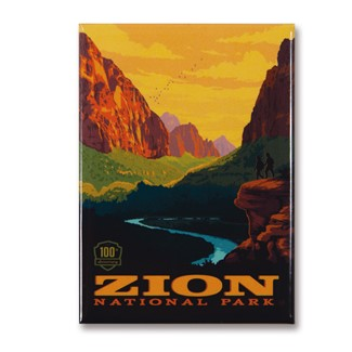 Zion 100th Anniversary Vertical Magnet | Metal Magnet