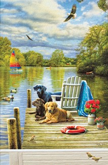 Dogs At The Lake | Lakeside birthday cards
