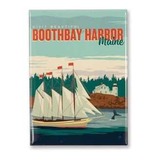 ME Boothbay Harbor Magnet | American Made Magnet