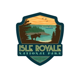 Isle Royale Emblem Sticker | Made in the USA