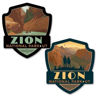 Zion Angels Landing/The Narrows Car Coaster PK of 2 | American made coaster