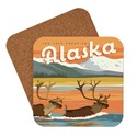 AK Swimming Caribou Coaster