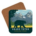 Grand Teton Bear Coaster