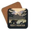 Rocky Mountain National Park Sprague Lake Bear Coaster