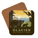 Glacier National Park Mom Bear & Cubs Coaster