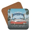 Santa Monica Pier Classic Sign Coaster
