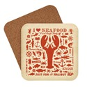 Lobster Pattern Print Coaster