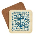 Anchor Pattern Print Coaster