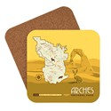 Arches Map Coaster