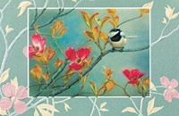 Chickadee in Pink Dogwood (COIN)
