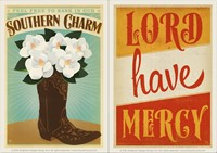 Lord Have Mercy & So Charm Boot Vinyl Magnet Set