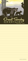 Great Smoky Mama Bear & Cubs List Pad