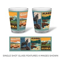 Alaska Scenes Shot Glass