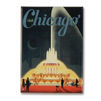 Chicago Buckingham Fountain Metal Magnet