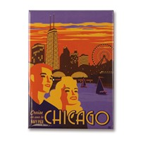 Chicago Navy Pier Metal Magnet