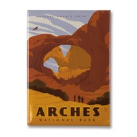 Arches Double Arch Metal Magnet
