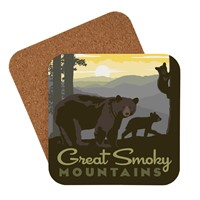 Great Smoky Mama Bear & Cubs Coaster