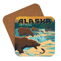 AK Fishing Bears Coaster