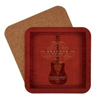 Branson Red Guitar Coaster