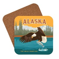 AK Eagle & Salmon Coaster