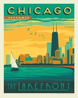 "Chicago Lakefront 8""x10"" Print"