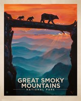 "Great Smoky Bear Crossing 8""x10"" Print"