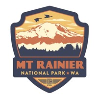 Mt. Rainier NP Emblem Sticker