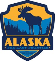 Alaska Moose Emblem Sticker