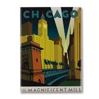 Chicago Magnificent Mile Metal Magnet