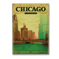 Chicago St. Patty's Day Metal Magnet