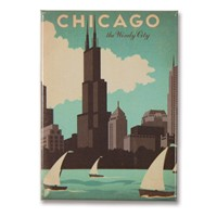 Chicago Windy City Metal Magnet