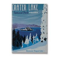 Crater Lake Metal Magnet