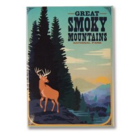 Great Smoky Deer Metal Magnet