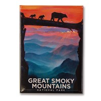 Great Smoky Bear Crossing Metal Magnet