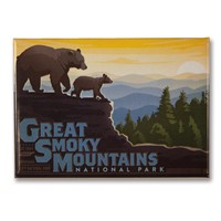 Great Smoky Mountaintop Metal Magnet
